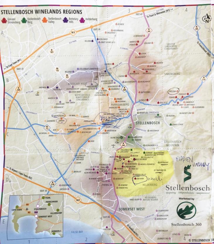 Stellenbosch Map